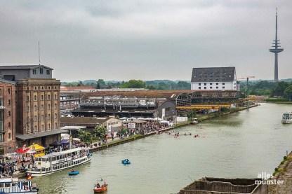 Beim Hafenfest 2016 konnten die Osmo-Hallen schon nicht mehr genutzt werden. (Archivbild: Carsten Bender)