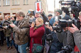 Großes Medieninteresse bei den Dreharbeiten für den neuen Münster-Tatort. (Foto: Michael Bührke)