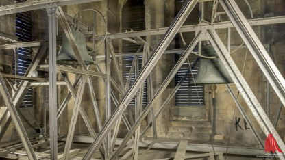 Der Glockenstuhl in 40 Metern Höhe. (Foto: wf / Weber)