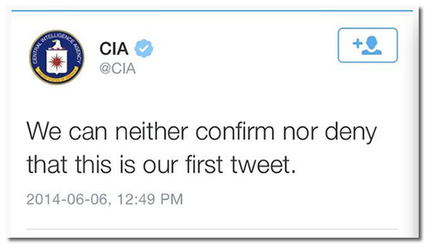 CIA first tweet