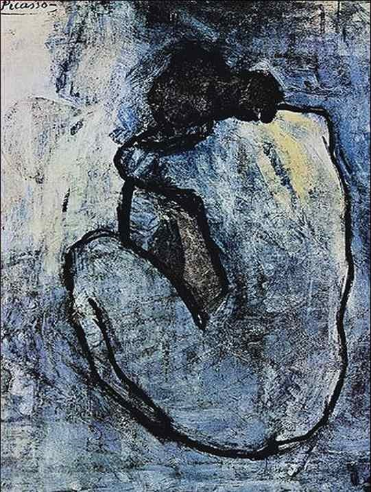 Blue Nude - TOP 10 MOST FAMOUS ICONIC PAINTINGS BY PABLO PICASSO