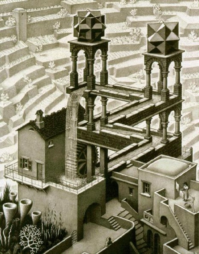 waterfal - TOP 10 MOST FAMOUS AND BEST WORKS BY MC ESCHER