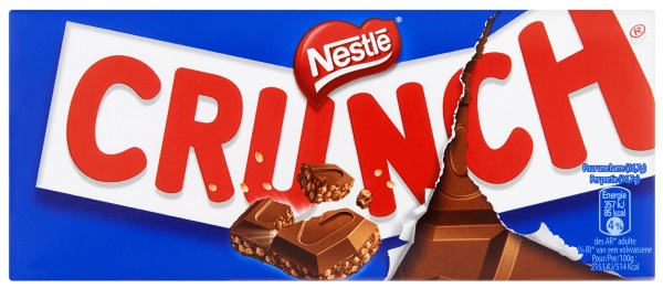 Nestl%C3%A9 Crunch Tablet Melk - TOP 10 BEST CHOCOLATE BARS IN THE WORLD