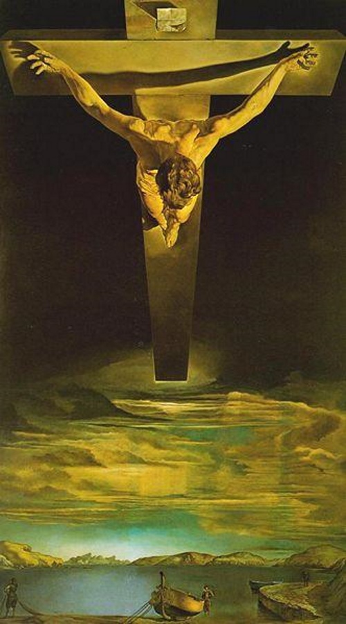 Christ of Saint John of the Cross - TOP 10 MOST BEAUTIFUL PAINTINGS OF SALVADOR DALI