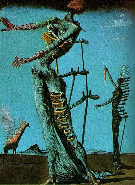 The Burning Giraffe - TOP 10 MOST BEAUTIFUL PAINTINGS OF SALVADOR DALI