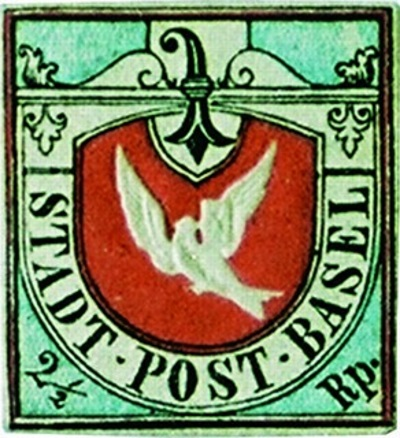 Basel Dove - TOP 10 MOST EXPENSIVE STAMPS EVER SOLD