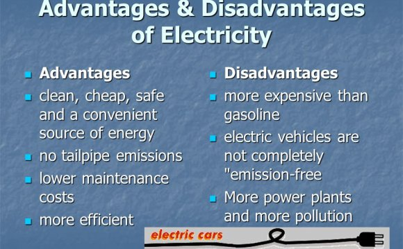 Advantages and disadvantages of electricity generator / Hydropower