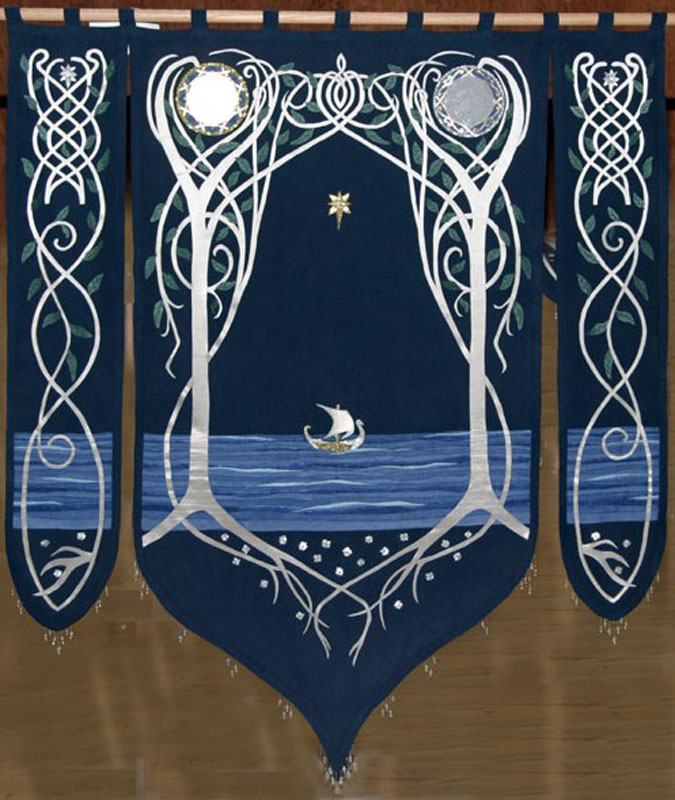 I m trying to make that banner in arwen s bedroom breecraft for Lord of the rings bedroom ideas