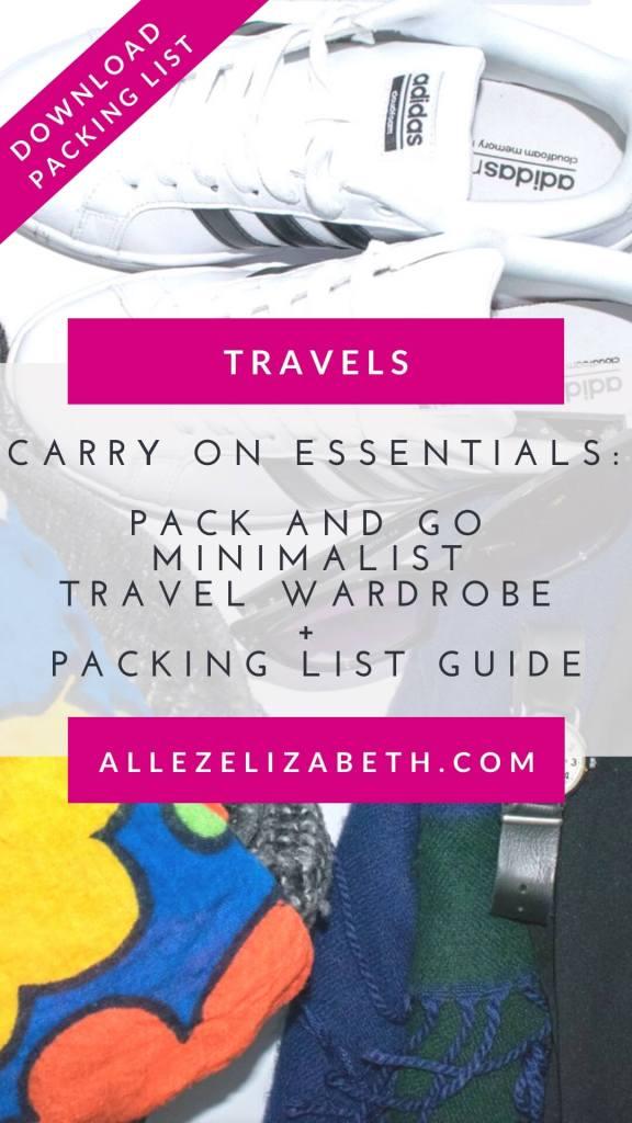 ALLEZ ELIZABETH - PINTEREST -PACK AND GO MINIMALIST TRAVEL WARDROBE
