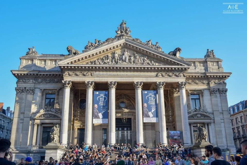 Brussels Stock Exchange (French: Bourse de Bruxelles Dutch: Beurs van Brussel) BRUSSELS, BELGIUM - ALLEZ ELIZABETH