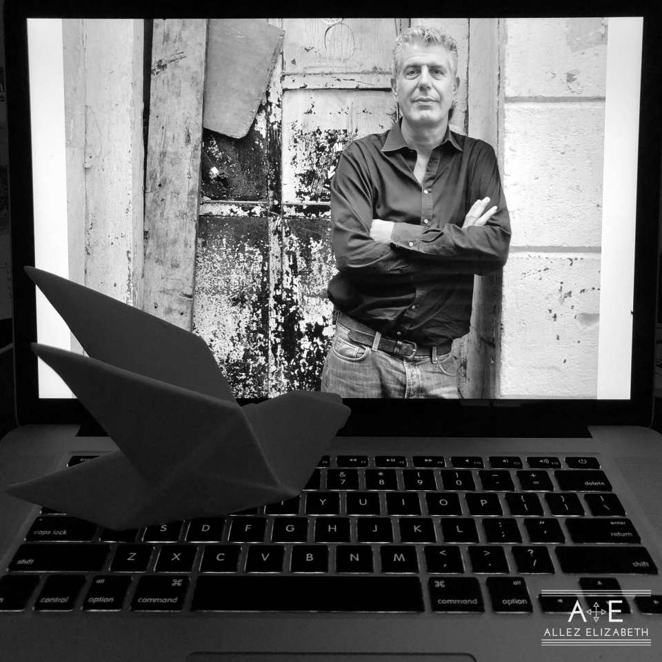 Anthony Bourdain by Allez Elizabeth