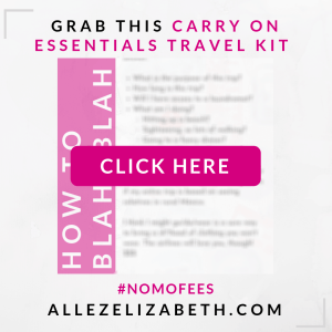 ALLEZ ELIZABETH - GRAB THIS CARRY ON ESSENTIALS TRAVEL KIT