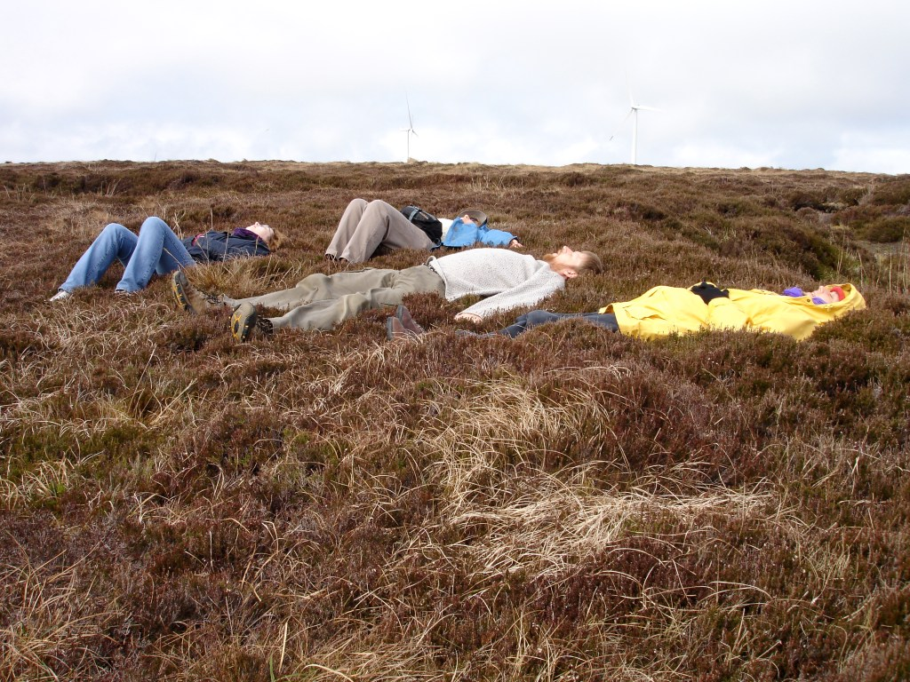 Lying in the heather