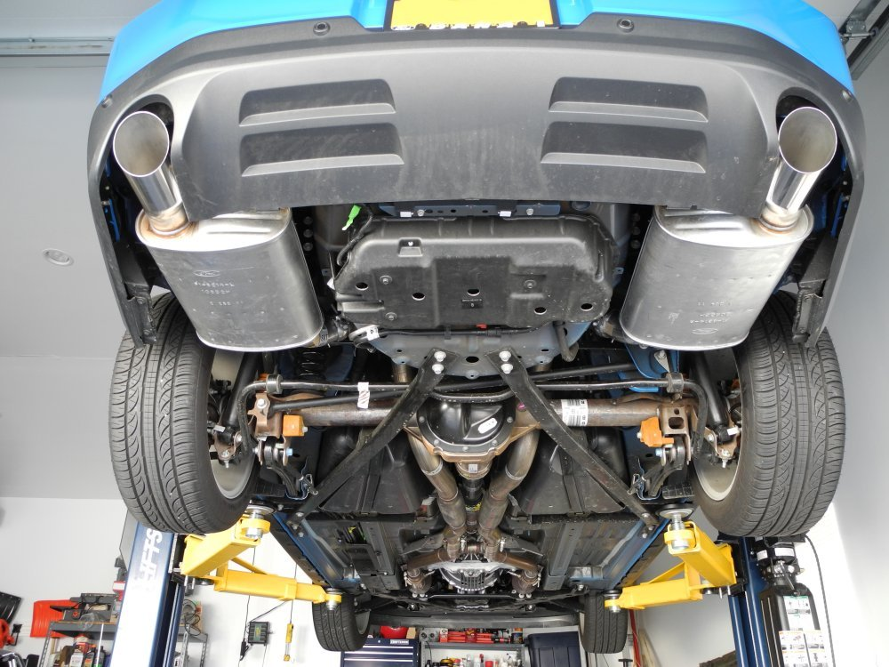 2012 ford mustang gt muffler swap with