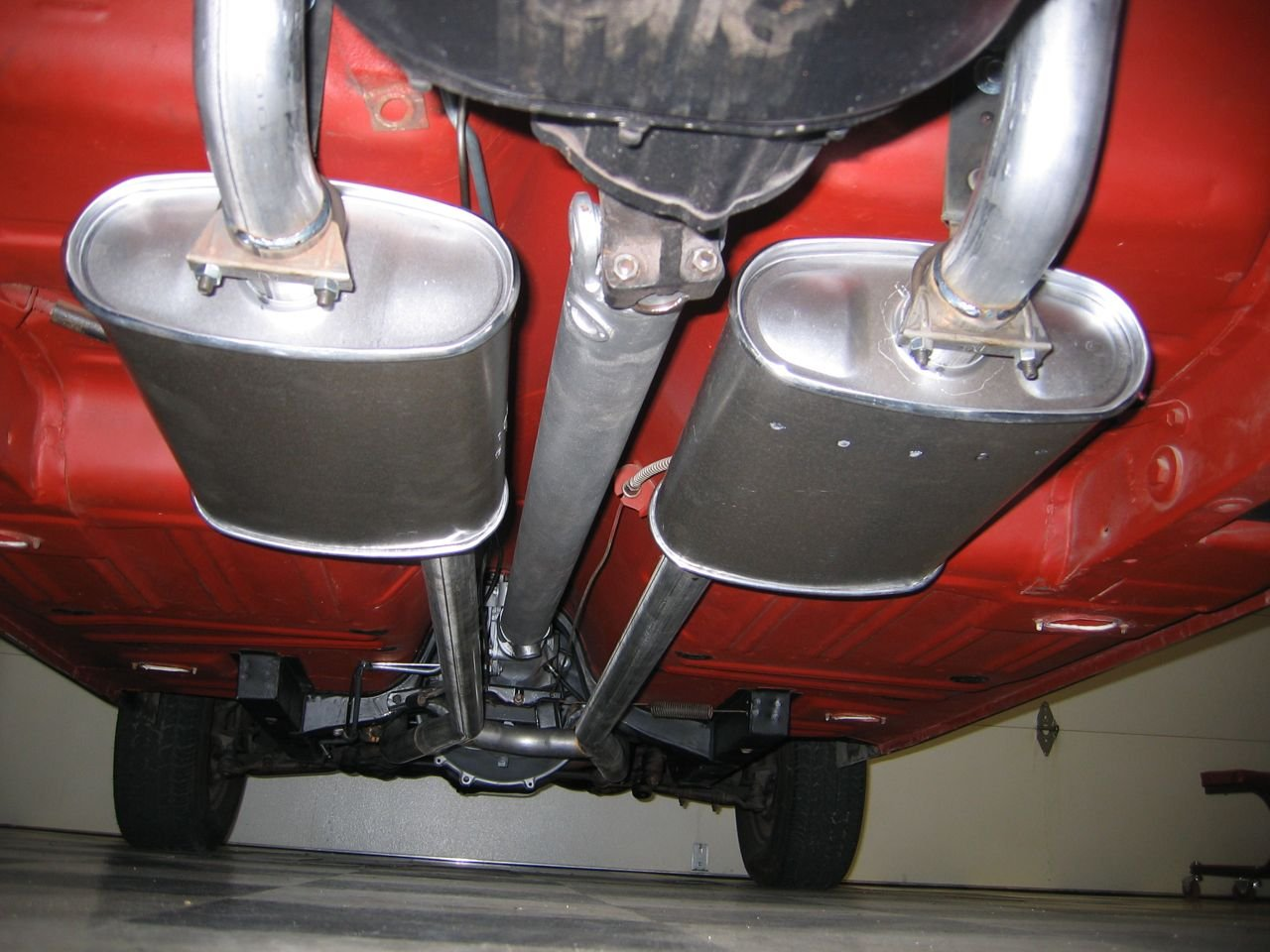 66 parking brake cable routing w h