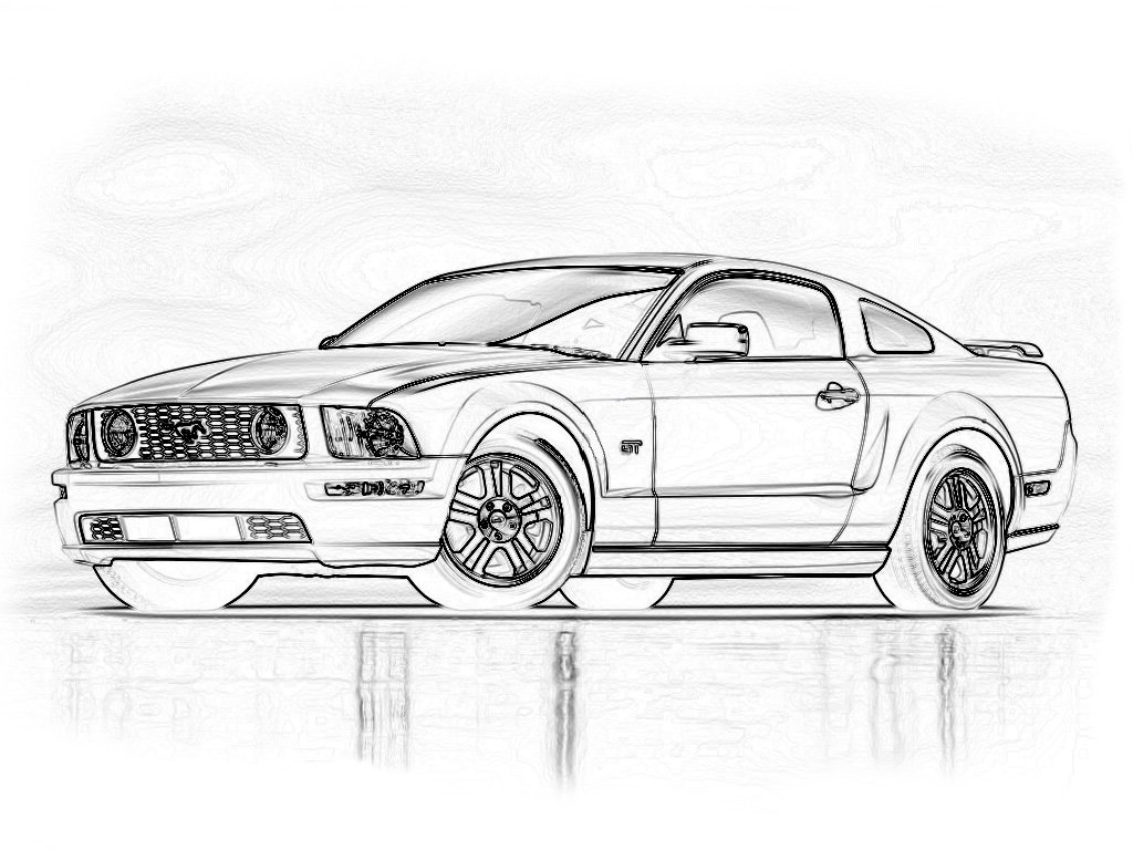Blank Mustang For Custom Painting