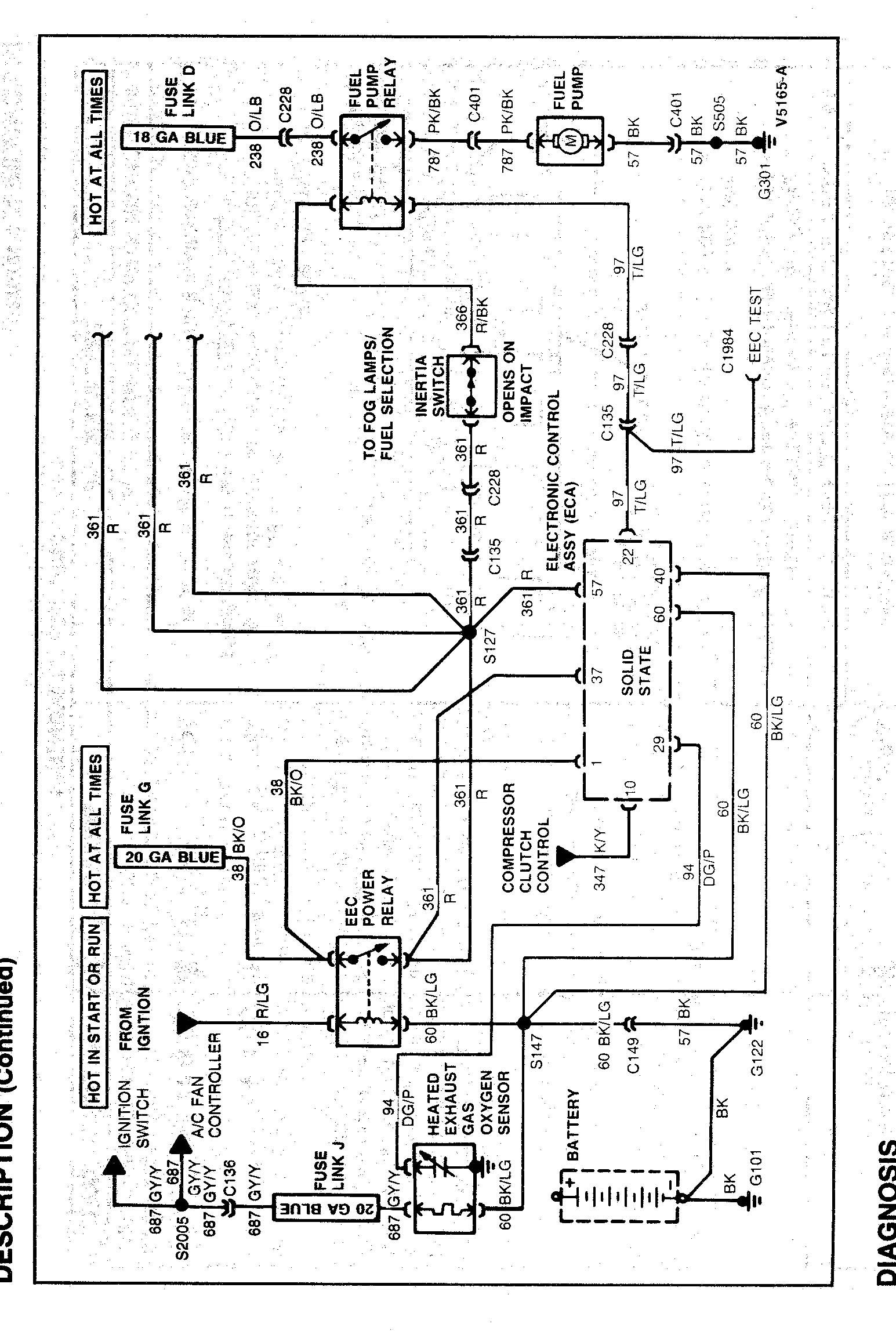 Chevy Fuel Pump Wiring Diagram