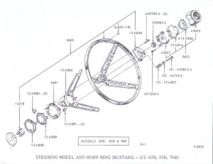 1966 Coupe Deluxe Steering Wheel Horn Installation(I NEED detailed instructions)  Ford Mustang