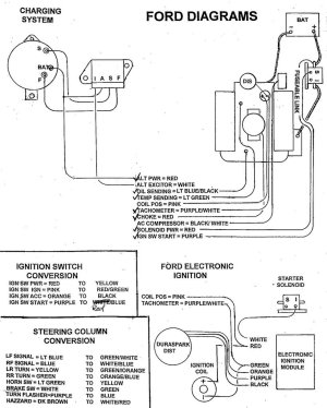 No spark on 66 mustang  wiring diagram included  Ford