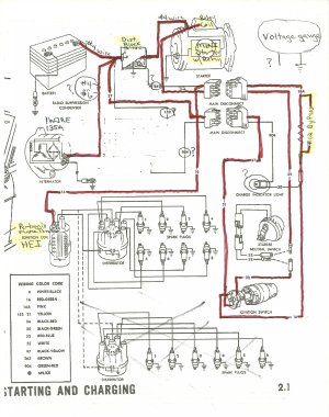 1965 alternator, starter and distributor wiring  Ford