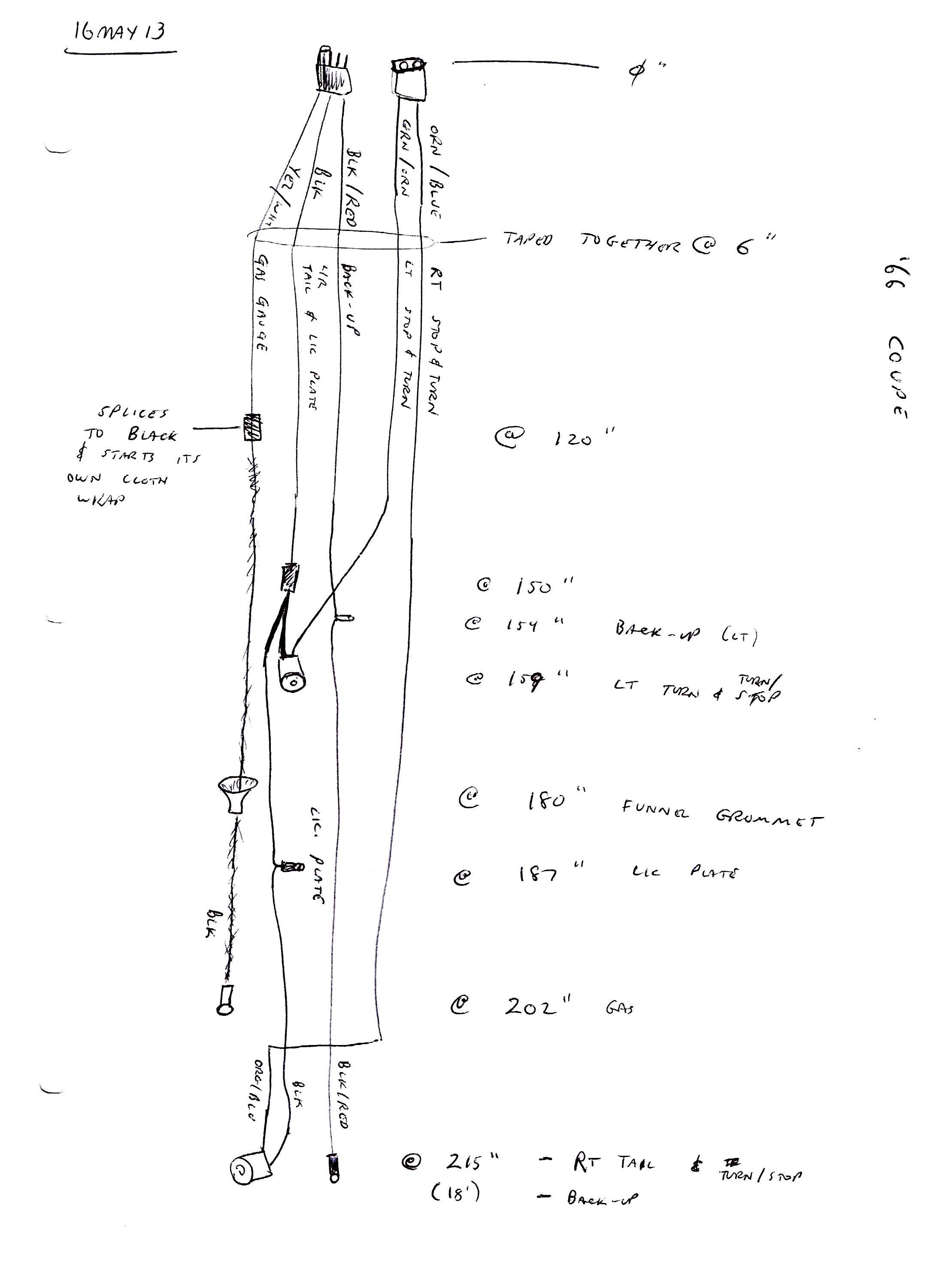 66 Mustang Gauge Wiring Diagram