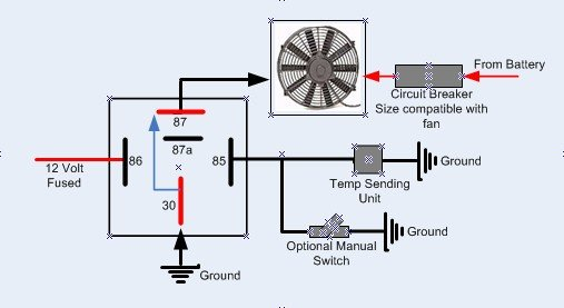 relay wiring diagram for electric fan relay image electric fan relay wiring diagram wiring diagram on relay wiring diagram for electric fan