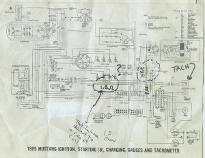 1968 Mustang wiring diagrams WITH TACH, please help  Ford
