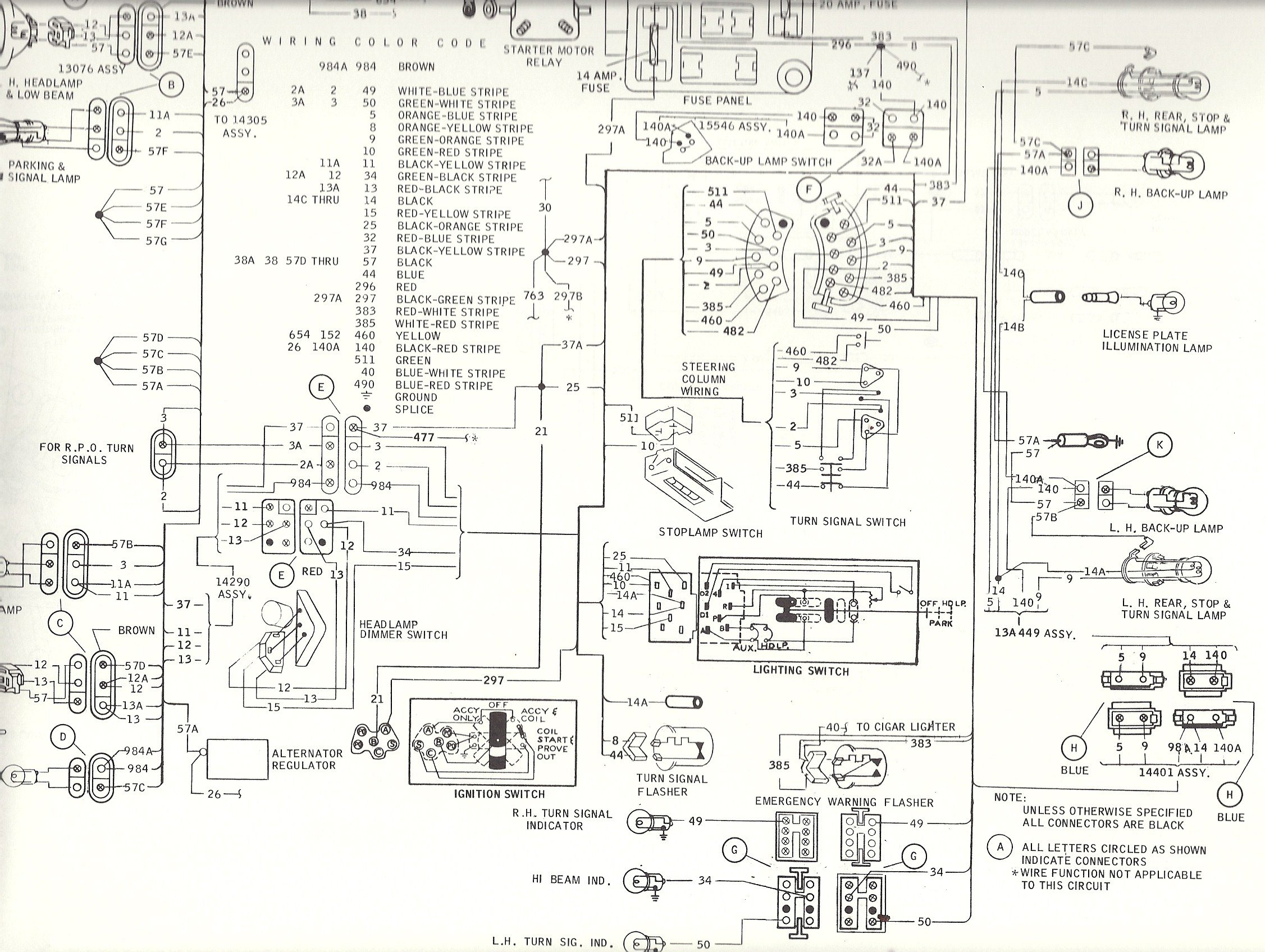 Mustang Turn Signal Wiring Diagram Schematic