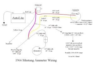 1966 Mustang ammeter wiring  Ford Mustang Forum