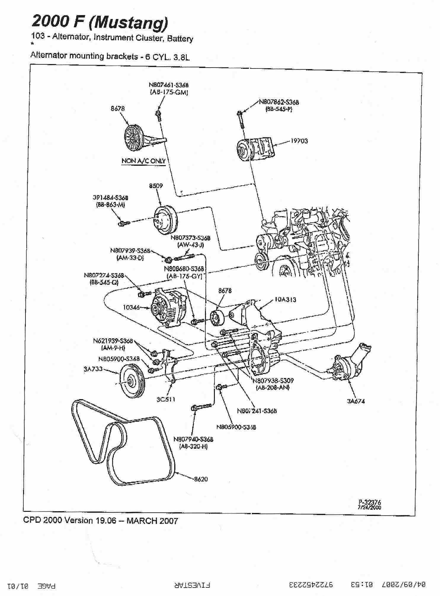 Ford Mustang Radiator Diagram