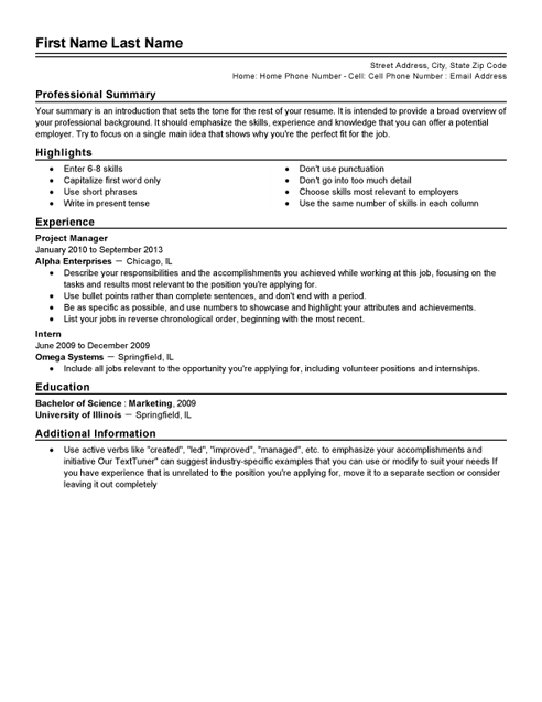 Top 10 Professional free resume template Microsoft word, Examples ...