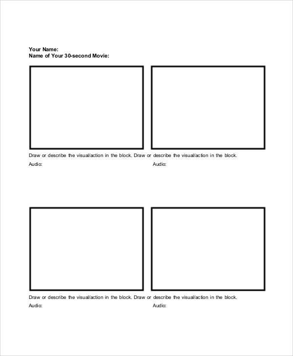 Basic Storyboard Templates
