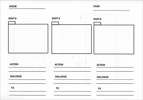 Examples Of Storyboard Templates Word Ppt And Pdf Format