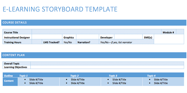 15 examples of storyboard templates word ppt and pdf - Instructional design plan examples ...