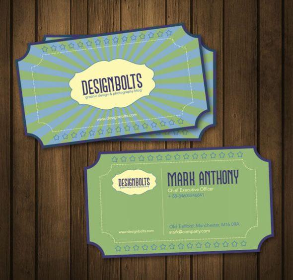 Beautiful Retro Business Card Template