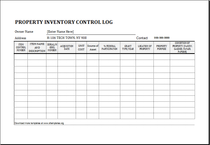Log Sheet Inventory Form  Inventory Log Sheet