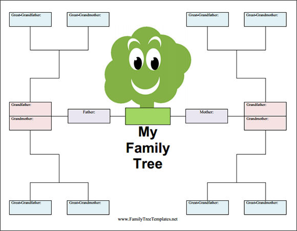 family tree sheet printable