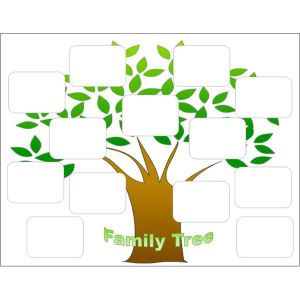 Simple Family Tree Chart Templates