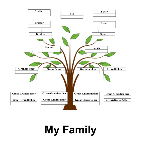 Family Tree Information Template Boatremyeaton