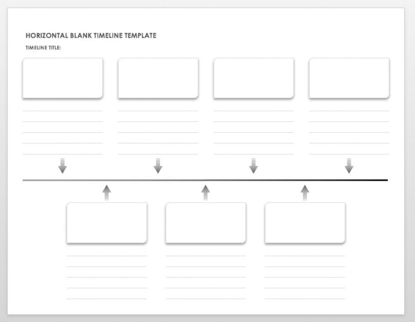 horizontal blank timeline template