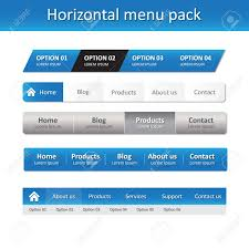 Horizontal Menu Website Template