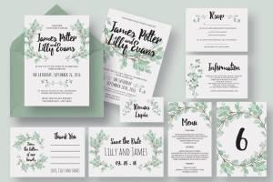 Wedding Invitation Pack Templates