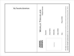 Editable double sided passport template