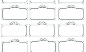 Free blank label template