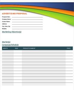magazine advertising proposal