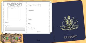 Passport booklet template
