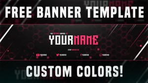 FREE YouTube Banner Template