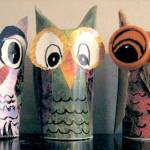 Easy Paper Roll Owls