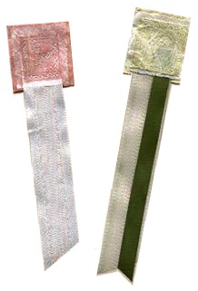 paper and ribbon bookmarks