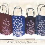 stamped gift bags